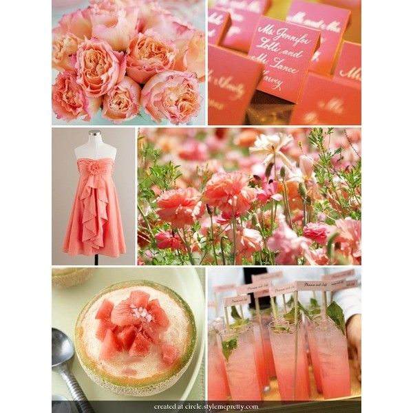 Color / Coral Wedding Decorations   Bing Images   Polyvore