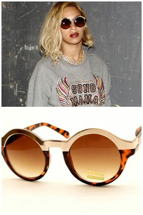 Celebrity Sunglasses – Brown/Gold or Black/Silver
