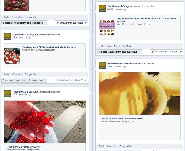 ... Receitinhas e Viagens ...: Curta no Facebook