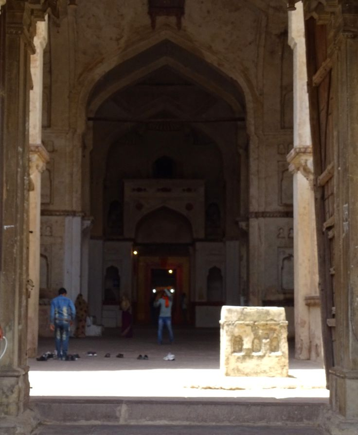 Inside view of Chaturbhuj Temple Orchha. Currently Radha-Shyam is worshiped here.