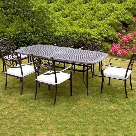 Versailles 6 Seater Garden Dining Set