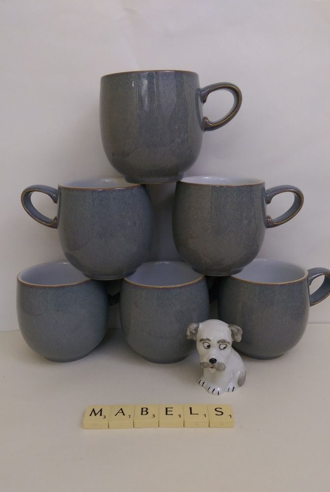 DENBY ~JET~ curved mugs x 6 & 22 best Denby Pottery images on Pinterest | Cosmic Monsoon and ...