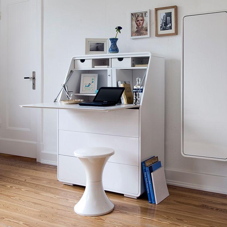 Best 25+ Sekretär weiß ideas on Pinterest | Wandfarbe braun ... | {Esszimmerschrank modern braun 55}
