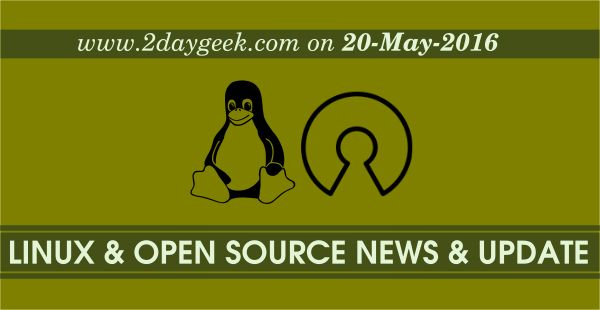 Linux News & Open Source News & Updates on May 20, 2016