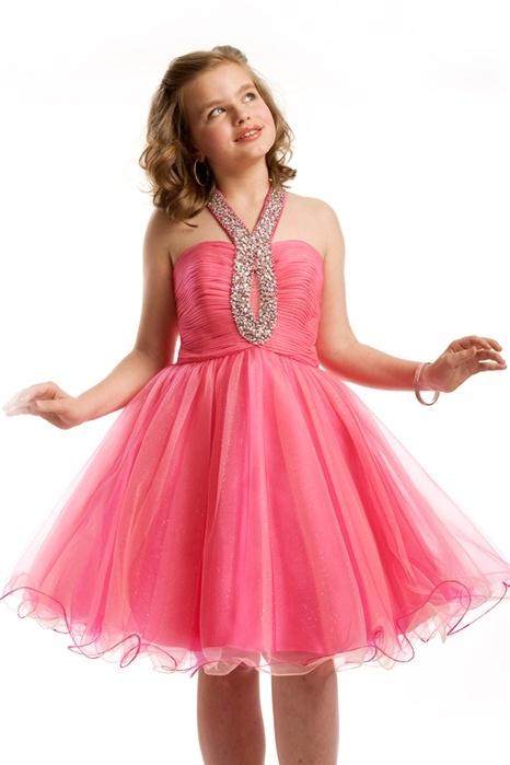 7aa021157ce4 Halter Ruche Short Pre-Teen Dress 1446 By Part I want this | Preteen dresses  | Prom dresses, Dresses, Flower girl dresses