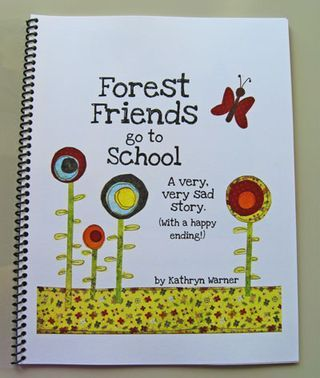 An elementary teacher's self-made book to help children understand how to treat library books.