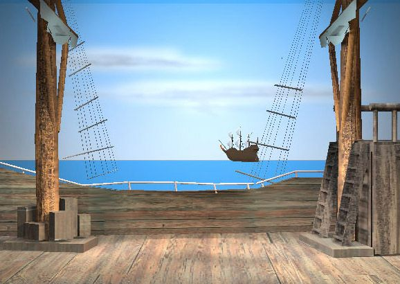 Pirate Ship Deck Backdrop PiratesOnTheHorizon.jp...