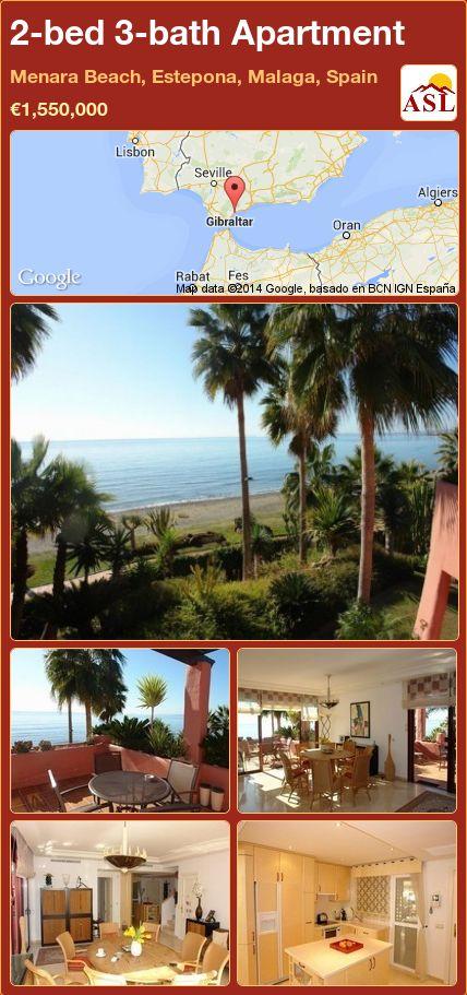 2-bed 3-bath Apartment in Menara Beach, Estepona, Malaga, Spain ►€1,550,000 #PropertyForSaleInSpain