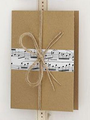 Make a musical notes and string bow card