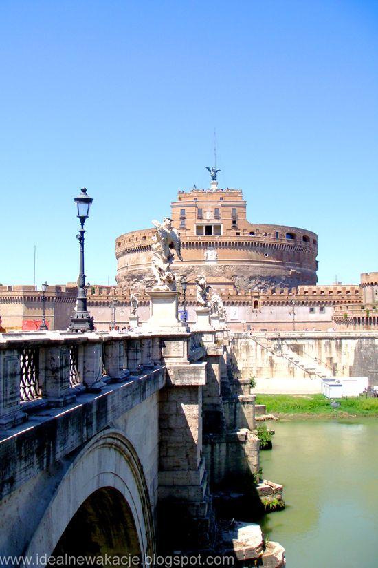 Rzym- Zamek i most Św. Anioła / Mauzoleum Hadriana