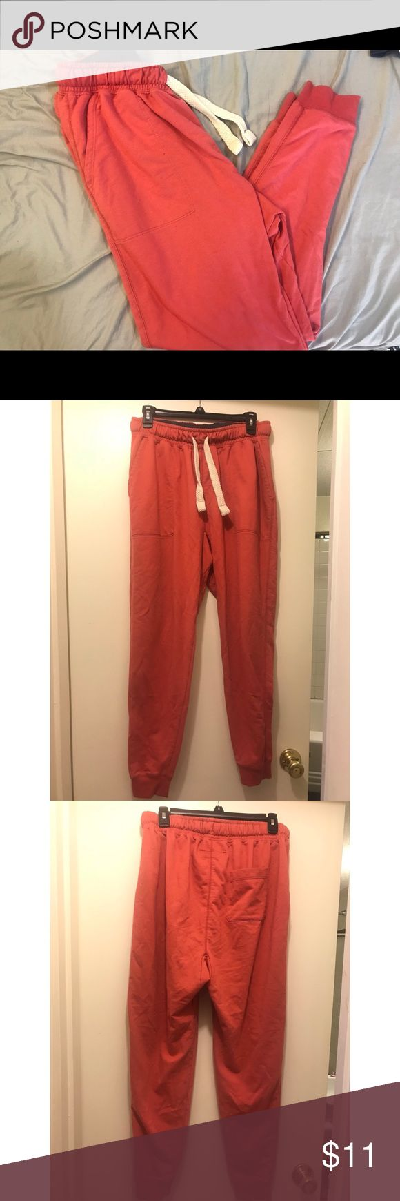 Cozy Men's SLIM FIT jogger sweatpants These salmon colored joggers are to die for! Super cozy, with a great fit! They are classified as Men's but a women look great in them too!  PRICE IS NEGOTIABLE!!! Cotton On Pants Sweatpants & Joggers