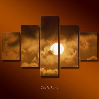 Модульная картина от 2stick.ru Солнце выглядывает из-за туч