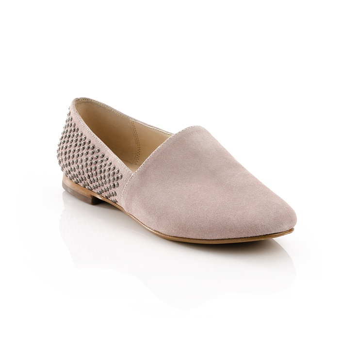 Great sued flat with a little bling.Shiny Studs, Blushes E.L.F., Style, July Shoes, Flats Shoes, July Blushes, Flats Blushes, Studs Flats, July Flats