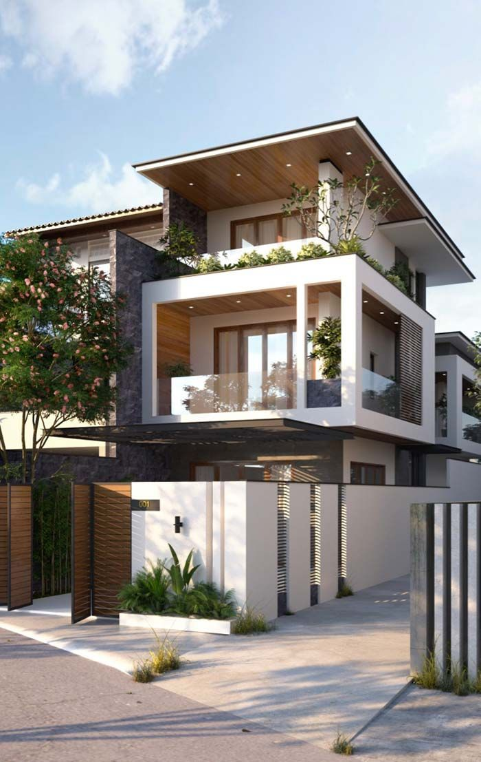 Glamorous And Exciting Architecture Inspiration See More Luxurious Interior Design Details At Luxxuh 3 Storey House Design House Designs Exterior Facade House