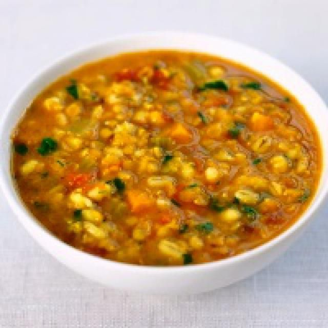Barley Vegetable Soup - Vegitarian but could be made otherwise.  5 ******!