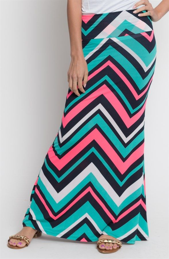 Foldover Printed Maxi Skirts {Jane Deals}