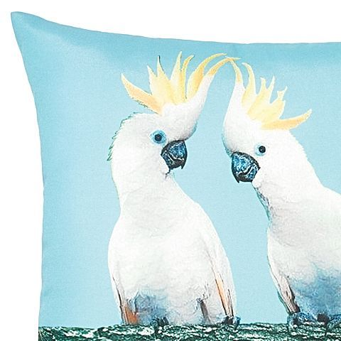 Colour your space with aqua tones and quirky Australiana style with the digitally printed Riviera Cockatoo Outdoor Cushion from Rapee.