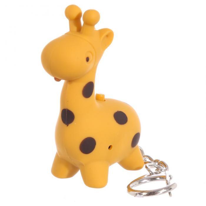 Klíčenka s LED osvětlením a zvukem #klicenka #zirafa #Zooniverse #keychain