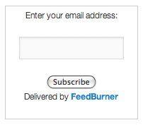 customise feedburner sign up form