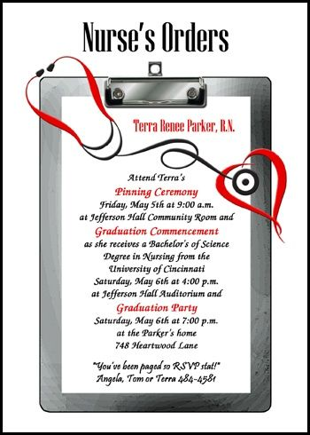 most amazing nurse pinning ceremony invitations and nursing school graduation announcements at CardsShoppe