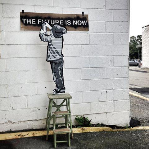 street art by Joe Iurato in New York http://restreet.altervista.org/le-installazioni-intagliate-nel-legno-di-joe-iurato/