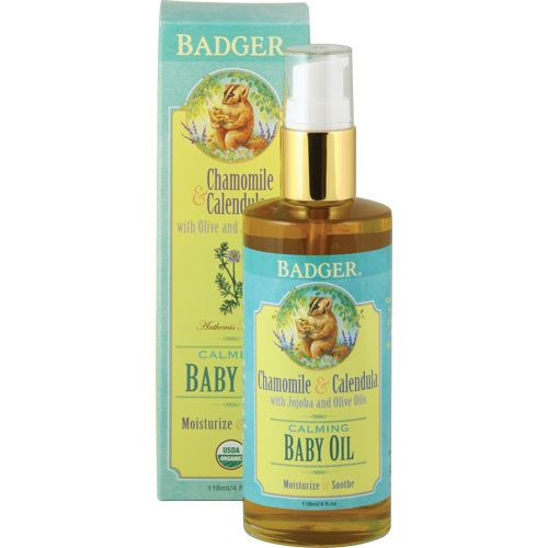 Badger Certified Organic Baby Oil, $19.95 (http://www.distinctorganics.com/badger-certified-organic-baby-oil/)