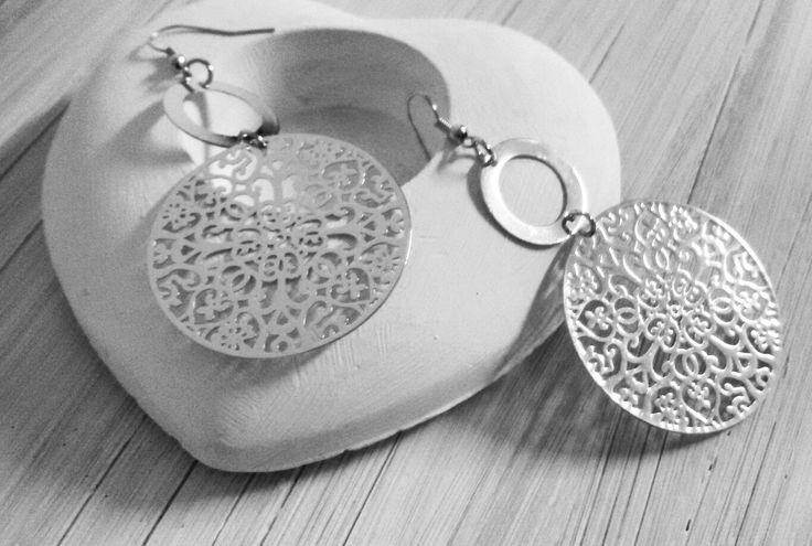 Silver felegree earring