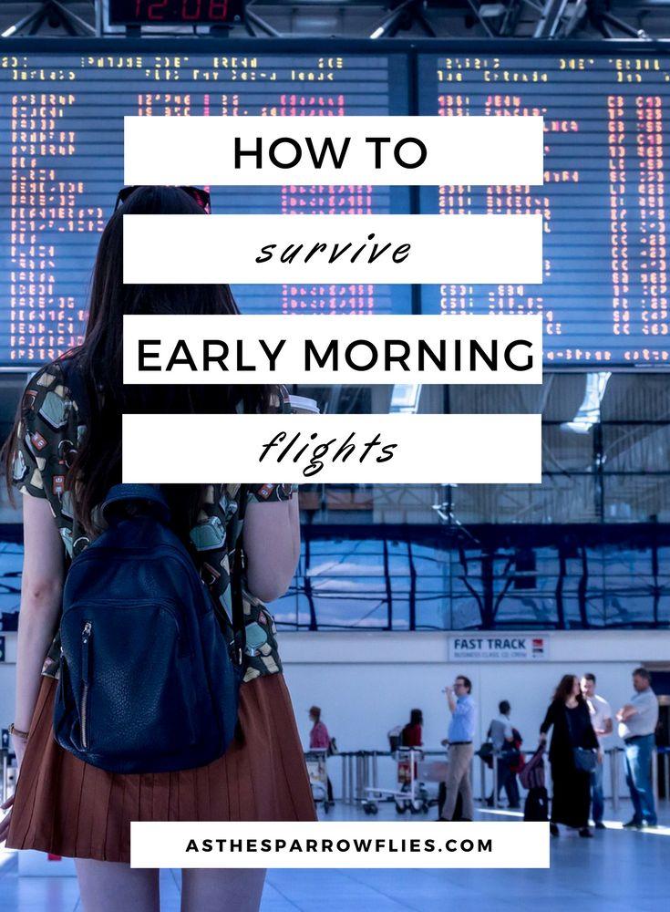 Surviving Early Morning Flights   Travel Tips   Travelling   Airport Hacks #traveltips #airporttips #travelling