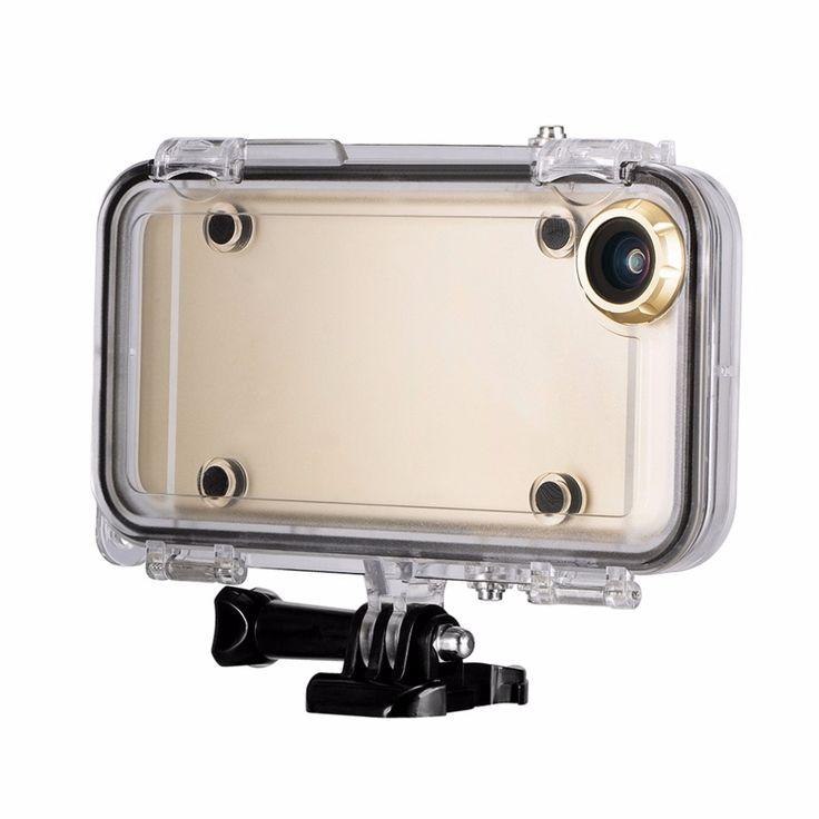 Extreme Sport Waterproof Case Couverture 170 Degrés Objectif Grand Angle pour iPhone 6 & 6 s Intégré plus pour GoPro adaptateur