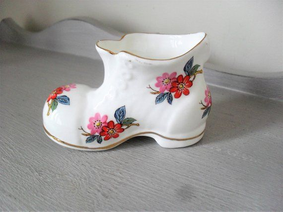 Bone China Boot English Fine Bone China Boot Collectable Floral China Boot Gilded China Gift For Her Trinket Pot Chinacraft Of London Bone China Gifts For Her Gifts