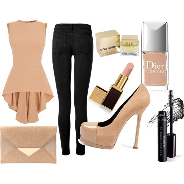"""Nude"" by elenaqueen on Polyvore"