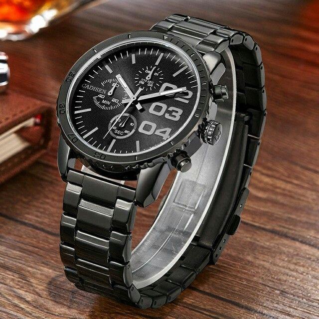 2016 New Fashion CADISEN Brand Design Business Men Male Clock Casual Stainless Steel Luxury Quartz Wrist watch