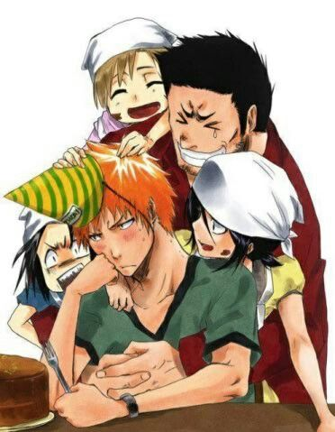 Aaaawwhh, this is soo cute! The Kurosakis are an adorable bunch and I just love how Rukia is part of the family ^^ ...Bleach fan art
