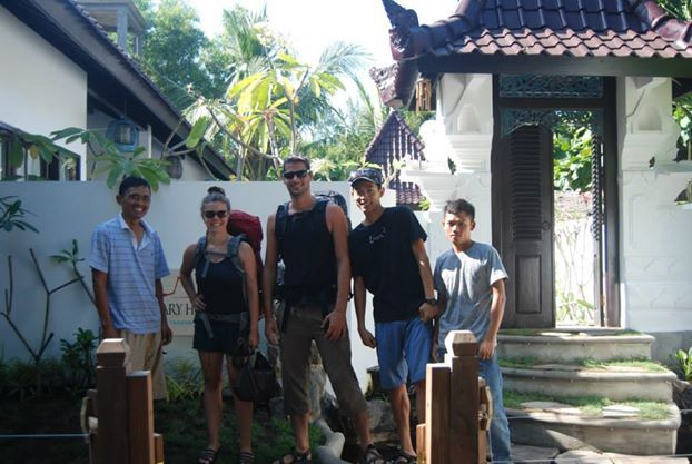 Balinese style entrance gate acts as a symbol of unity between the outside world and the inhabitants of the house which relies on an open concept kind of architecture, while also offers them the privacy..