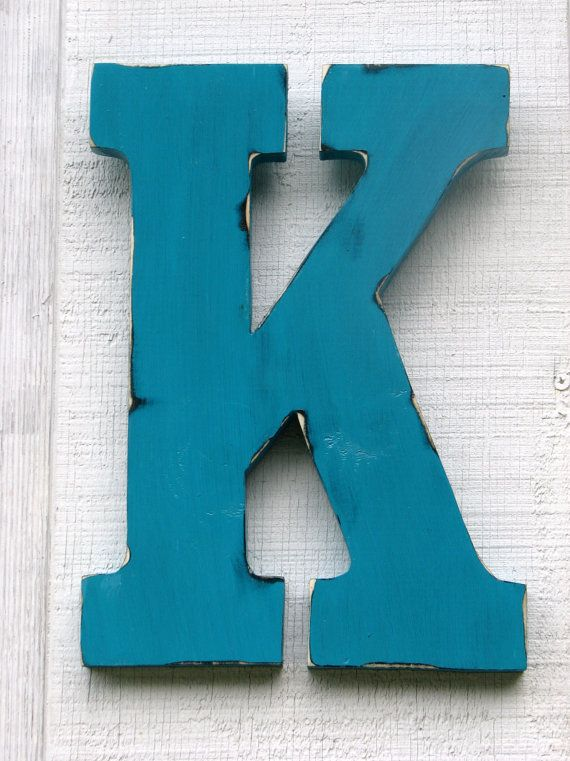 guestbook large wall letters rustic wooden letter k distressed painted island green18 tall wood name letters custom wedding gift