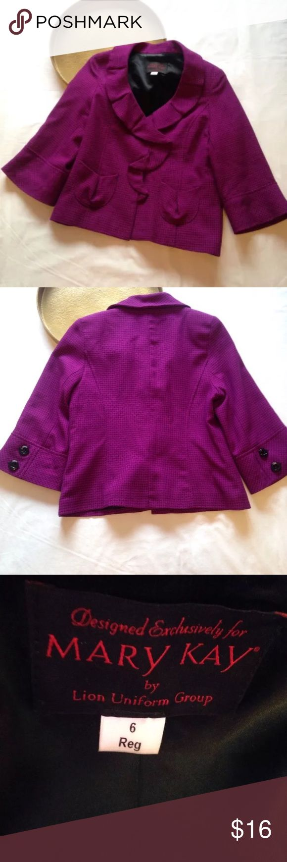 Mark Kay Purple Blazer, Size 6 Preowned. See photos for details. Mary Kay Jackets & Coats Blazers