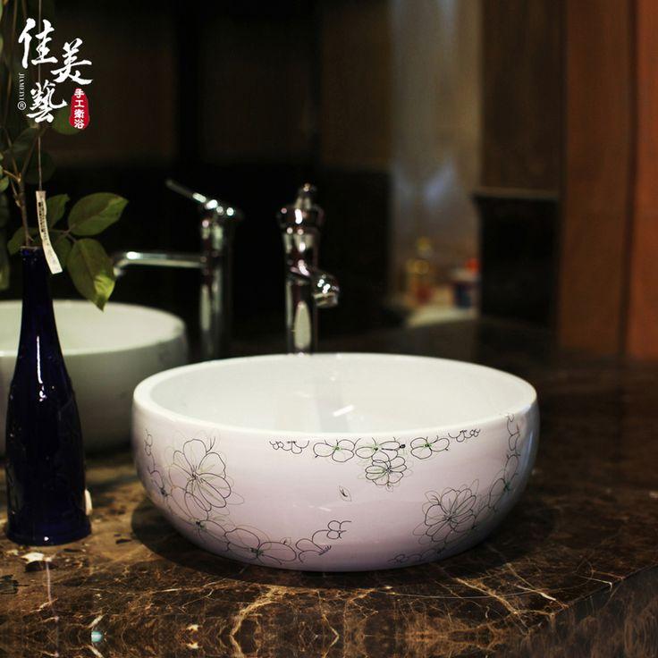 Дешевое Многие провинции отправка Camry современное искусство раковины ванной комнаты ванных комнатах керамические искусство минимализма 430#, Купить Качество Редкоземельные элементы непосредственно из китайских фирмах-поставщиках: