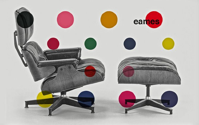 Eames poster by Jesse BrewVintage Graphics, Design Chairs, Eames Lounger, Eames Posters, Chairs Lounges, Graphics Design, Furniture Design, Chairs Design, Design Classic