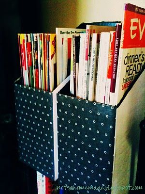 15 best images about diy magazine holder on pinterest for How to make a magazine holder from cardboard