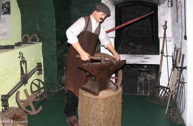 Blacksmith Display in the Town Museum, Bodmin, Cornwall