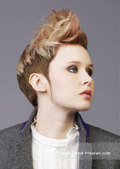 SUTHERLAND & BARNETT Kurze Blonde weiblich Gerade Farbige Frauen Haarschnitt Frisuren  hairstyles