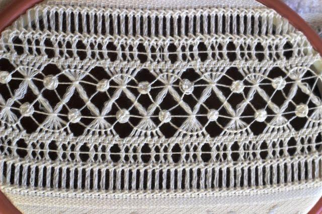 drawn thread border