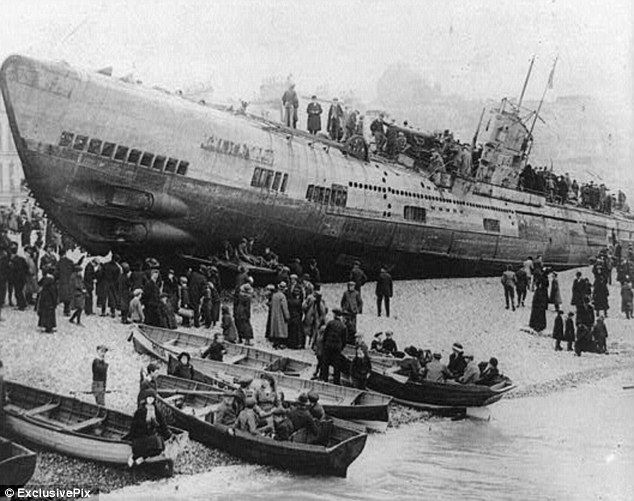 among the most feared killing machines of World War 1, causing the deaths of thousands of servicemen at sea.So when the people of Hastings woke one morning to see this German U-boat on their beach, it caused something of a shock.These eerie pictures show how the horrors of war got a little bit too close to home for the people of the Sussex town. Frustrating: As residents grew sick of children pelting the boat with rocks and making a racket throughout the night, the order was given to break…