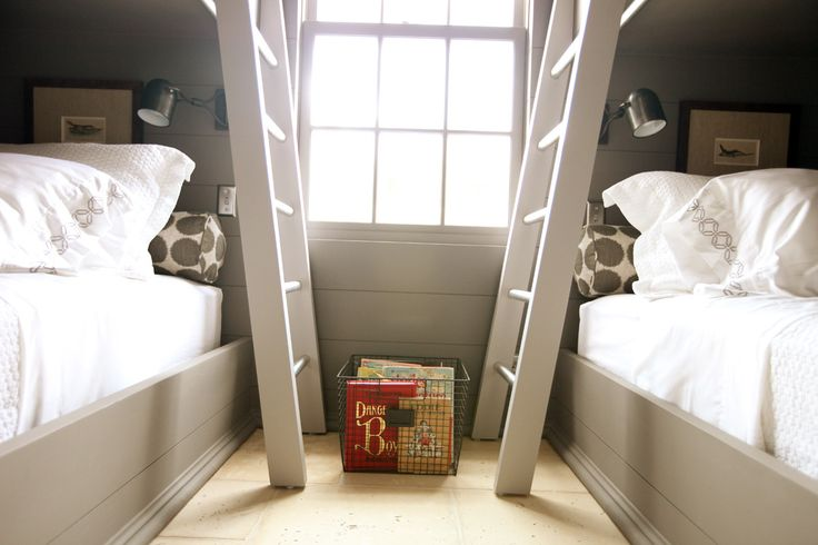 Can I move all 3 boys into one bunk room soon?  Love the feel of this one. {Urban Grace Interiors}