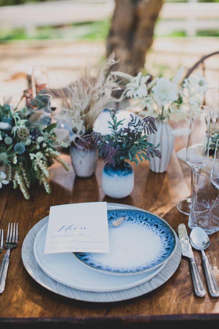 These textural centerpieces from Shindig Chic Creations are the epitome of Southwestern cool. Mix tons of different shaped flowers and plants to recreate the look at your own reception.