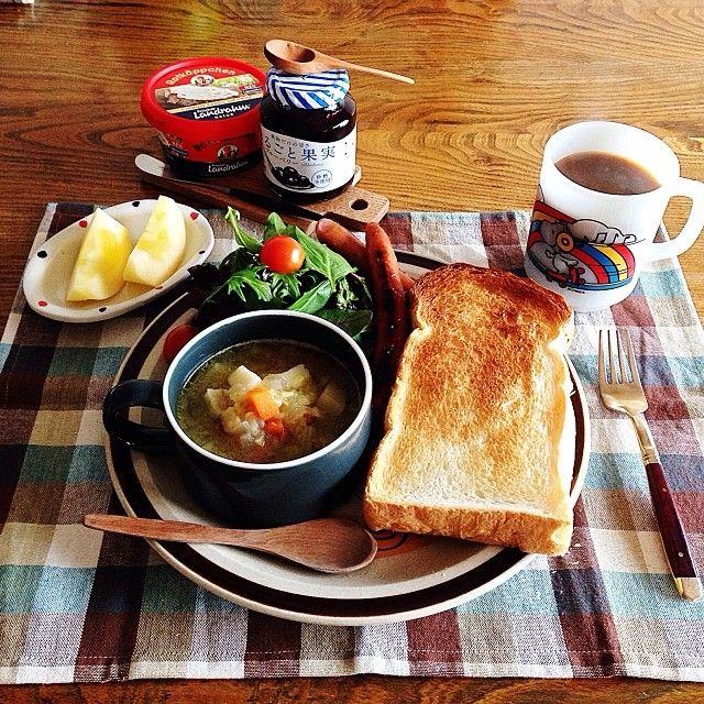 .@tami_73 | おはようございます❁ 2013年最後の朝ごはん 旦那さんの仕事納め。見事に寝坊しま... | Webstagram