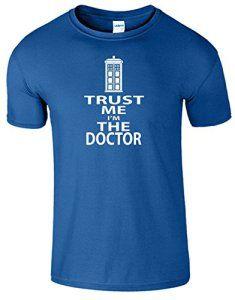 SnS Hommes Femmes Garçons filles de dames T-shirt unisexe T-Top Coton Trust Me I'm The Doctor annonce T-shirt – Bleu Royal(Royal Blue) – M…