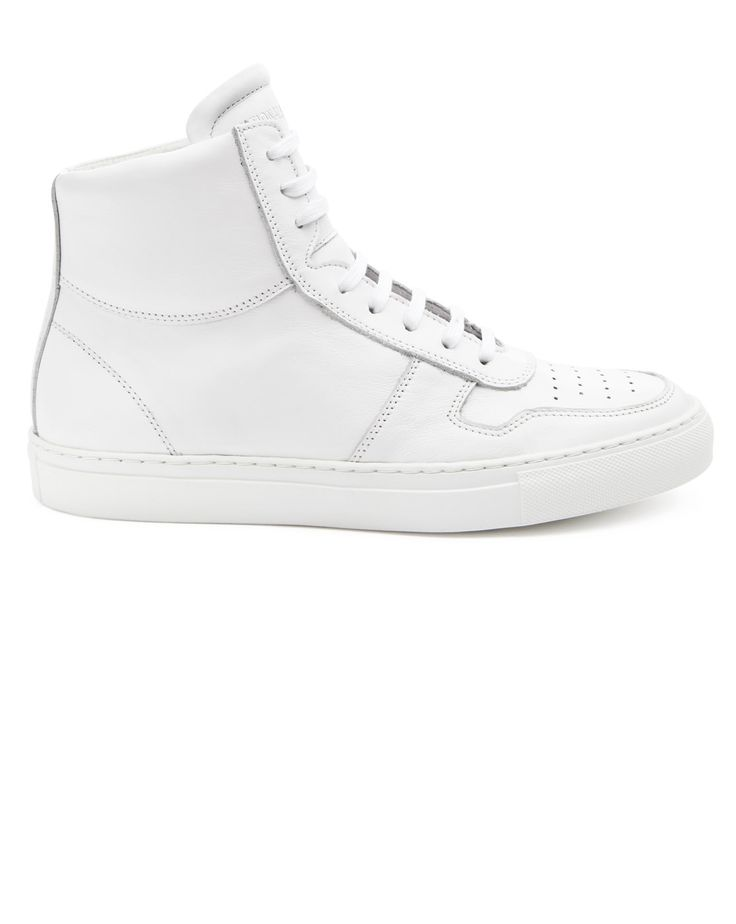 National Standard Edition 1 White Leather Sneakers
