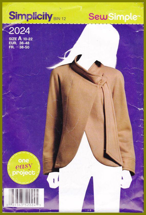 Simplicity 2024 Womens Fleece Jacket Asymmetrical Front