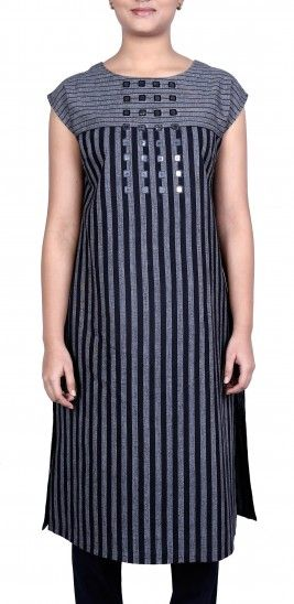 Striped Mirror Kurta